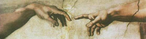 """Michelangelo - """"De schepping van Adam"""" (fragment) - Sixtijnse Kapel - Rome"""